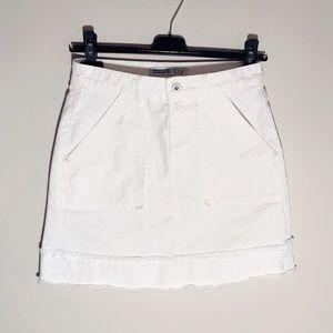 afc2c50d Zara Skirts | White Frayed Denim Skirt | Poshmark
